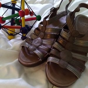 Dansko metallic sandals